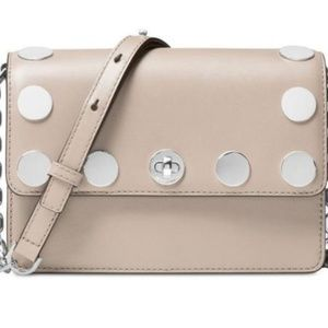RIVINGTON STUD NATALIE SMALL CHAIN CROSSBODY CEMEN